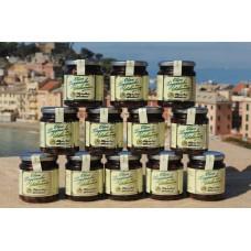 Olive taggiasche in salamoia 250 gr. - Confezione in vetro - Cartone da 12 vasetti