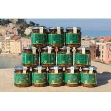 Olive taggiasche snocciolate in olio extravergine di oliva 250 gr. - Confezione in vetro - Cartone da 12 vasetti