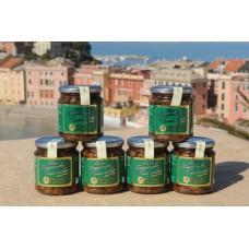 Olive taggiasche snocciolate in olio extravergine di oliva 250 gr - Confezione in vetro - Cartone da 6 vasetti